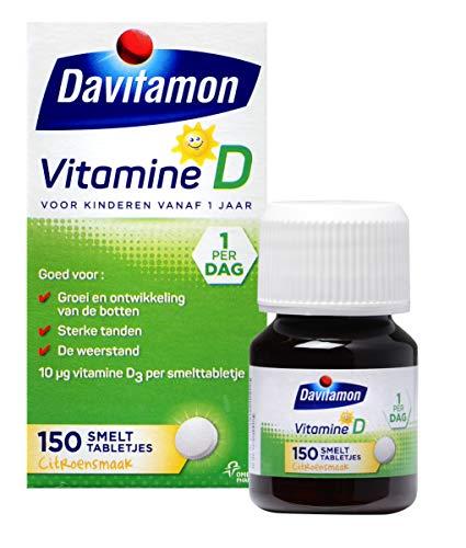 Davitamon Vitamine D Kinderen - speciaal ontwikkeld voor kinderen - Groei en Ontwikkeling - Voedingssupplement - 150 Smelttabletten