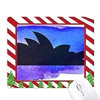 オーストラリアシドニーオペラハウスシルエット ゴムクリスマスキャンディマウスパッド
