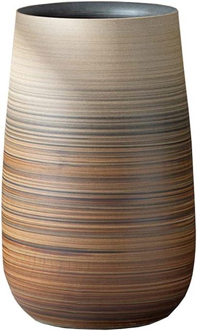 dxjsf Brown Striped Gradient Ceramic Flower Nashville-Davidson Mall Living Nippon regular agency Pots Roo Home