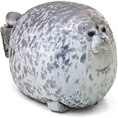 Almohada de felpa de foca gorda y linda, juguete de peluche de peluche, almohada de océano realista, cojín de peluche de algodón suave, regalo de cumpleaños, 15.7 u201d