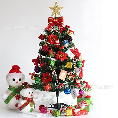 WUFANGFF Produits De Noël Christmas Tree Arbre De Noël Crypté Decorated Christmas Tree Mini Bar,60Cm