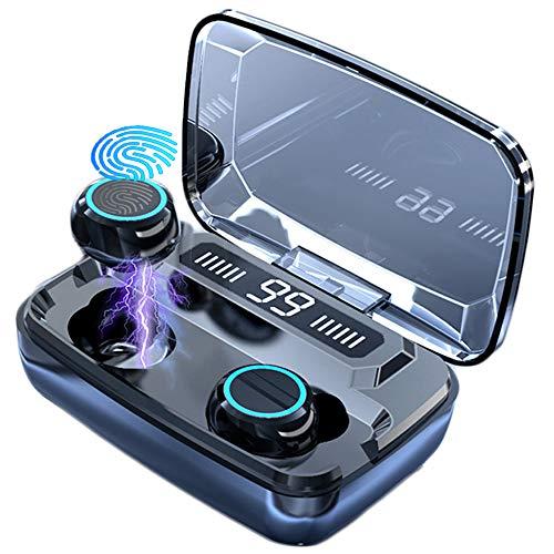 Atralife HD Audífonos Bluetooth Inalámbricos, Hi-Fi 8D Estéreo Deportivos Bluetooth Auriculares, Control táctil Audífonos Bluetooth Micrófonos Dual Incorporado, IPX5 Impermeable -Garantía de 2 años