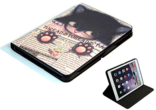 For Apple iPad Mini 1 2 3 4 5 Happy Cute Cat Smart Stand Case Cover Sleep Wake Function