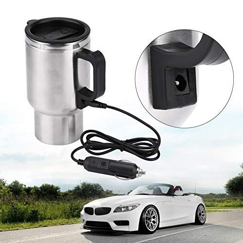 Auto-Heizung Cup, 12V 450ml Edelstahl-Wasserkocher-Becher Reise-Heizung Cup für Kaffee, Tee
