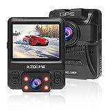 AZDOME Dash Cam GPS Per Auto, Telecamera Auto Doppia Lente Full HD 1080P + 720P e Visione ...