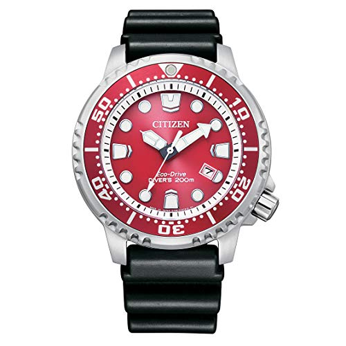 Citizen Eco-Drive BN0159-15X - Reloj de buceo solar para hombre, color rojo
