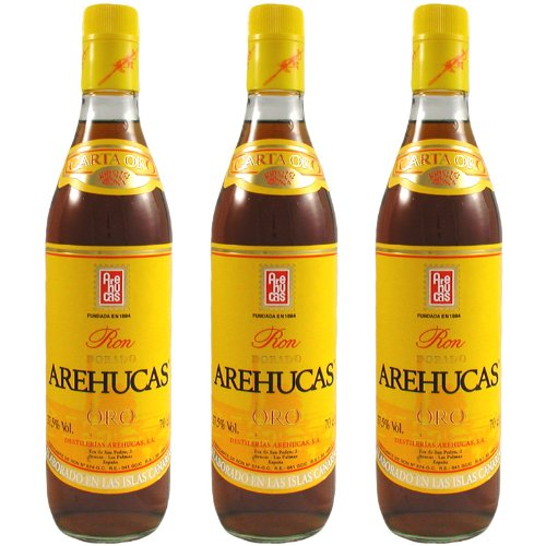 Arehucas Ron Carta de Oro - 3x 700 ml - Total: 2100ml