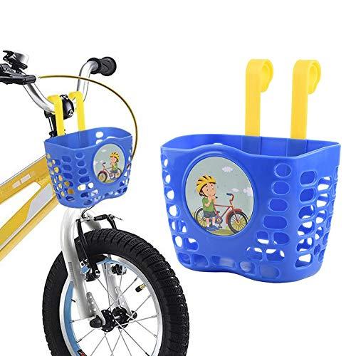 Hearthrousy Kinder Fahrradkorb Vorderer Lenker Fahrradkorb Handgewebter Vorne Lenkerkorb Handgewebter Kunststoffkorb für Kinder Jungen Mädchen Studenten 7.50 x 4.50 x 5 in
