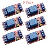 R REIFENG 6pcs/lot 1 Channel 12V Relay Module Board Shield with Optocoupler Isolation Support High/Low Level Trigger for Arduino