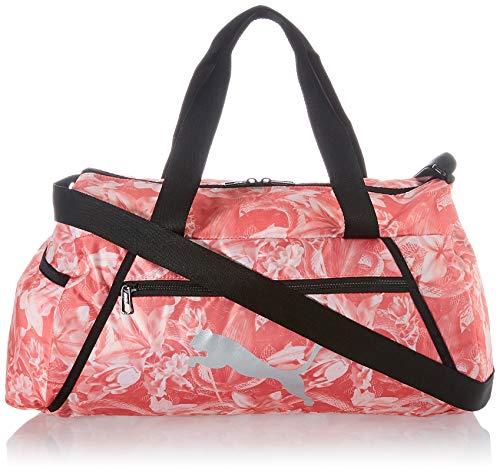 PUMA AT ESS Barrel Bag Bolsa Deporte, Mujer, Georgia Peach/AOP, OSFA