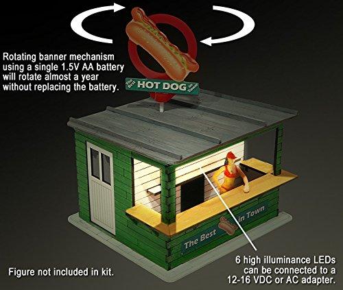 Proses LS-316 Kit Stand de Hot Dog avec Lumière et Bannière Rotative