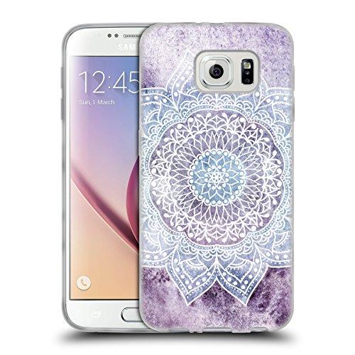 Head Case Designs Licenza Ufficiale Nika Martinez Porpora Intenso Mandala Cover in Morbido Gel Compatibile con Samsung Galaxy S6