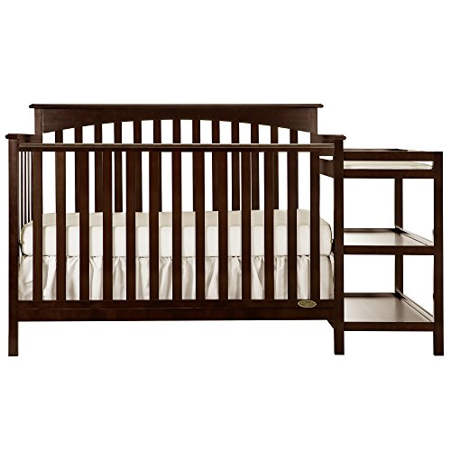 Dream On Me Chloe 5-in-1 Convertible Crib with Changer, Espresso