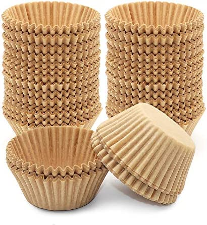 400Pcs Cupcake Liners Unbleached Muffin Liners Greaseproof Paper Baking Cups Natural Paper Cupcake product image