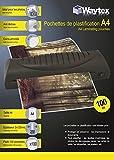 Waytex 78272-Lote de 100 fundas de plastificación, A4, 250 micrones, transparente