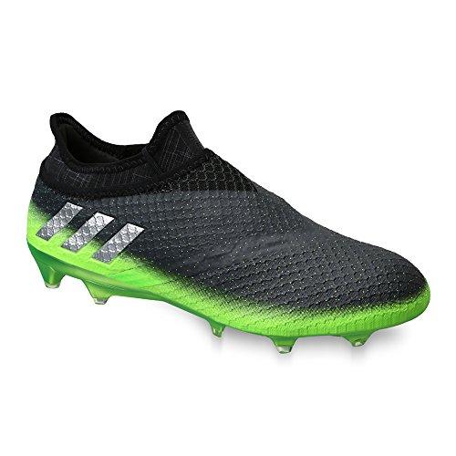 adidas Messi 16+ Pureagility FG Techfit Socke Space Dust grün grau Gr. 39 1/3