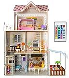 KRUZZEL Casa de muñecas de Madera Accesorios 30/103/120cm Grande 9152