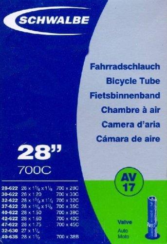 SCHWALBE Fahrradschlauch AV17 mit Autoventil ~ 28