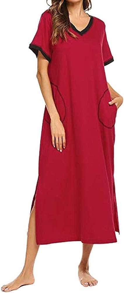 Forwelly Women Plus Size Lingerie Sleepwear Sexy V-Collar Short