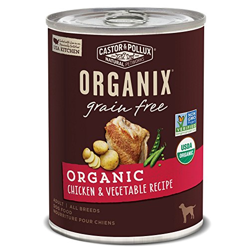 Castor & Pollux Organix Grain Free Organic Chicken & Vegetable Recipe Adult Canned Dog Food, (12) 12..7oz cans