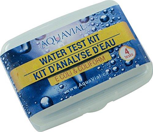AquaVial Wassertest für coliforme Bakterien und E Coli für Trinkwasser und Wasserbehälter (4x Bakterien-Test)