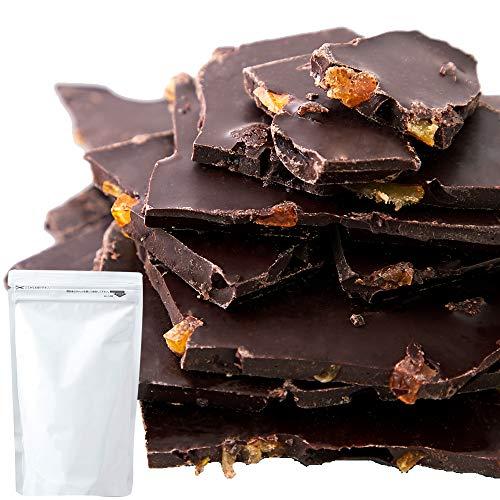 (冬季限定) 天然生活 カカオ72%割れチョコオレンジピール (200g) クーベルチュール ビター チョコレート 国産オレンジ使用 スイーツ