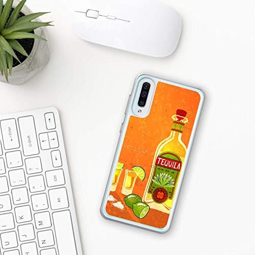 Tequila Hülle Samsung Galaxy Case A10 A20 A30 A40 A50 A70 M10 M20 M30 2019 Plastik Silikon phone case Mexiko Mexikanische trinken Sonnenaufgang Alkohol