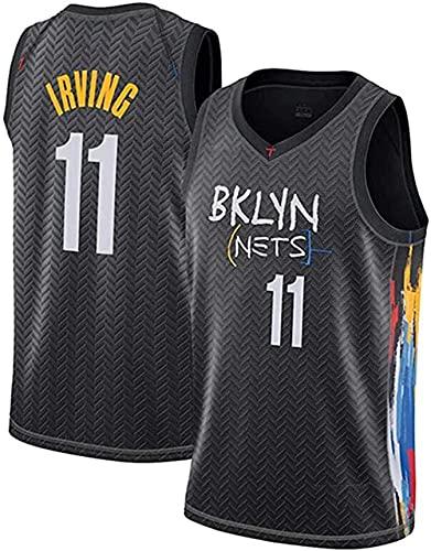 ZRHZB Brooklyn Nets #11 Irving #7 Durant Camiseta de Baloncesto para Hombre Transpirable Resistente al Desgaste Camiseta(Tamaño: S-XXL),B,L