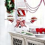 Snowy Day Babbo Natale Che Tiene Vassoio Decorazione Natalizia, maggiordomo di Babbo Natale con Vassoio, Porta dolcetti Natalizi con Pupazzo di Neve, Supporto per Ciotole Snack, Decorazioni per