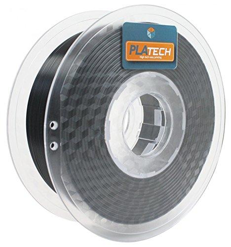 FFFworld 1 kg. PLA Tech Negro 1.75 mm. - Filamento PLA 1.75 con bobinado de precisión Optiroll - PLA Filament