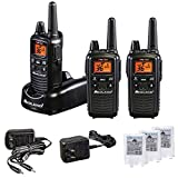 Midland 36 Channel FRS Two-Way Radio - Long Range Walkie Talkie with 36 Channels, Silent Operation, and NOAA Weather Alert Technology - Black (3-Pack)