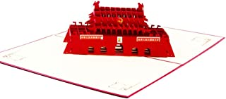 Creative 3D Greeting Card Handmade Paper Carved Hollow Birthday Architecture Tiananmen Square