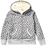 Amazon Brand - Spotted Zebra Kids Girls Sherpa-Lined Fleece Zip-Up Hoodies, Cheetah, Small