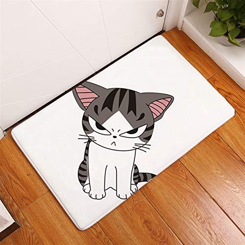 Mode Porte-clés Pendentif Nouveau tapis de bain doux Maison douce maison chat imprimé tapis de salle de bain paillassons tapis de sol dans la cuisine salon absorbant templeste anti-glissement Femmes