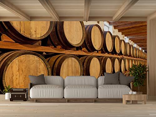 Oedim Vinilo para Pared Bodegas Madera | Fotomural para Paredes | Mural | Vinilo Decorativo | 600 x 300 cm | Decoración comedores, Salones, Habitaciones