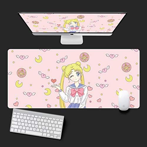 Juego Rosa linda chica Sailor Moon juego alfombrilla de ratón de dibujos animados animado diosa de la luna de gran tamaño teclado extendido Estera Mousepad del ratón for el Ministerio del Interior ant