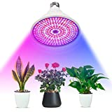 Favrison 100W E27 LED Grow Light Bulb with 290Pcs LEDs Full Spectrum Plants Grow Lamp for Indoor Plants, Seedling,Growing, Blooming, Fruiting