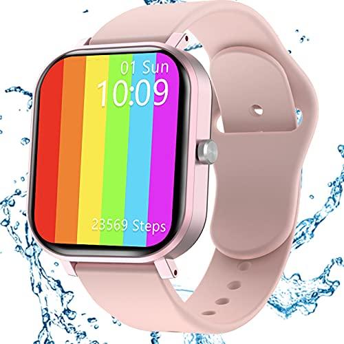 Smartwatch Damen, Jamswall Fitness Armband Tracker Voller Touch Screen Smart Watch IP68 Wasserdicht Fitness Uhr mit Schrittzähler Schlafmonitor, Kamerasteuerung, Sport Armbanduhr für iOS Android Handy
