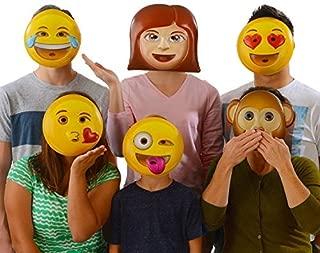 Emoji Universe : Emoji Vacuform Party Masks (Pack of 6)