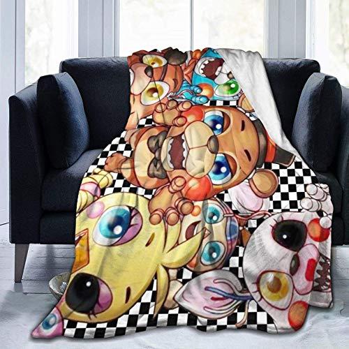 Manta de franela suave FNAF Cinco noches en Freddy's Manta fina para niños, niños, niñas, hombres, para cama, sofá, coche, oficina, viaje, regalo ligero, 50 x 60 pulgadas