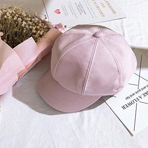 H.ZHOU Hüte & Mützen Achteckige Kappe Reine Farbe Damenhut Sommer Cap Berets Cotton (Farbe : Pink)