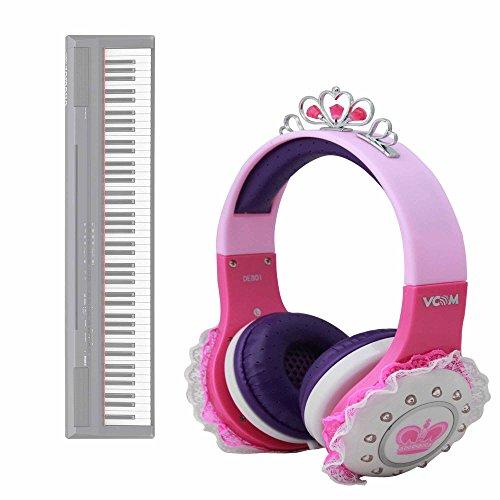DURAGADGET Auriculares De Princesa para Teclado/Piano Eléctrico Yamaha NP-V80 NPV-80, Yamaha P-105B, Yamaha P-115B, Yamaha P-115WH, Yamaha P-45B Sonido Y Conexión Jack De 3.5mm