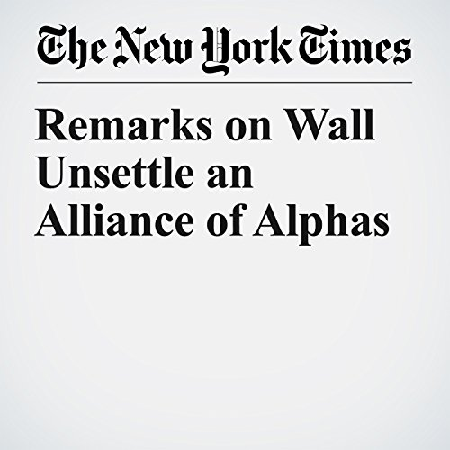 Remarks on Wall Unsettle an Alliance of Alphas copertina