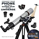 Celestron 22460 StarSense Explorer DX 102AZ Smartphone App-Enabled Refractor Telescope, iPhone/Android Compatible, Grey
