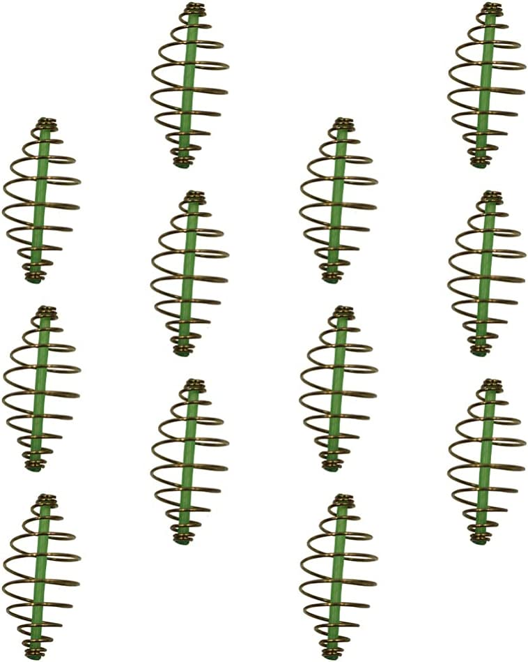 BESPORTBLE 12Pcs Fishing Bait Spring Fish Lure Special price for a limited time Super sale Cage