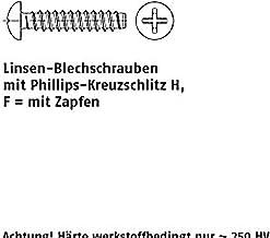 Viti autofilettanti DIN 7981 A 2 3,5 x 9,5 F-H A 2 VE = S 1000 pezzi