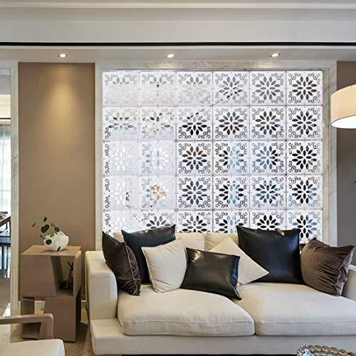 Myeussn Divisorio in PVC ecologico, paravento in plastica effetto legno ideale come decorazione per salotto, camera da letto, cucina, sala da pranzo, in set da 12 pezzi