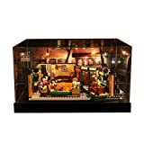 Nlne Acrílico Vitrina para Lego Friends Central Perk, Transparente Display Case Compatible con Lego 21319 (Modelo De Lego No Incluido)