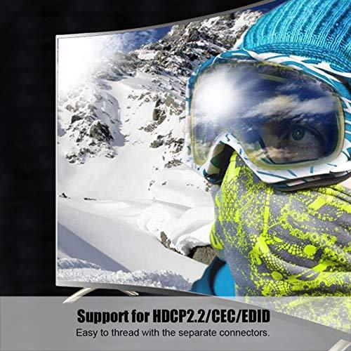 Surebuy Línea de Fibra óptica de aleación de Zinc sin demora Cable de Fibra óptica de PVC Plug and Play para TV, Pantalla, proyector con Interfaz HDMI(10m)