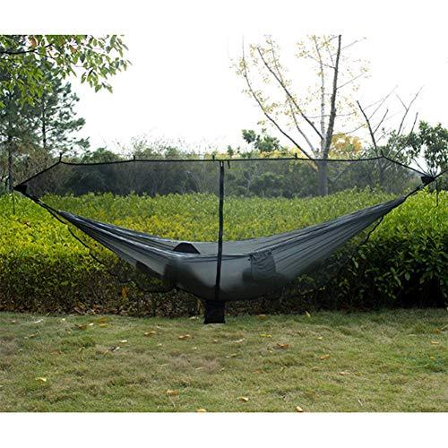Homclo Hamaca Protección contra Insectos Camping Hamaca para 2Personas con mosquitera de Hamaca Hamaca con fijación Outdoor Hamaca para Camping, Viajes, Vacaciones
